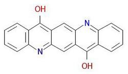 Pigment-fiolett-19-molekylær-struktur
